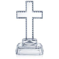Mikasa crystal wedding cross, altar crosses, beautiful cut crystal cross