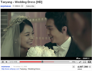Taeyang Youtube Wedding Dress