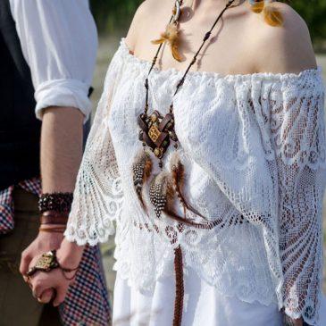 bigstock Close Up Of Boho Wedding Coupl 225985720