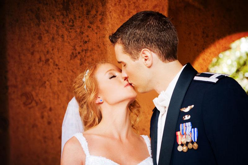 bigstock Newlywed Couple Kissing 46170322